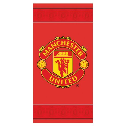 Man United Border Crest Towel