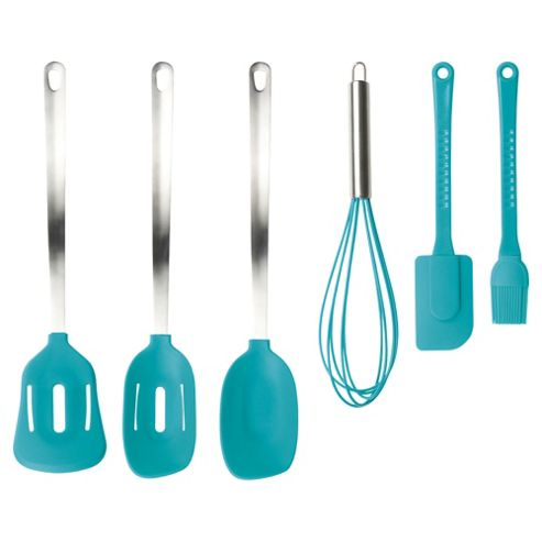 Taylors Eye Witness 6 piece Silicone Utensils Set, Turquoise