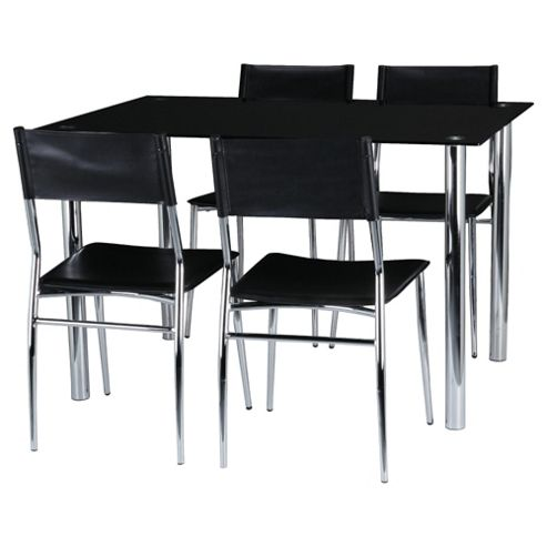 Ruben 4 Seat Set, Black