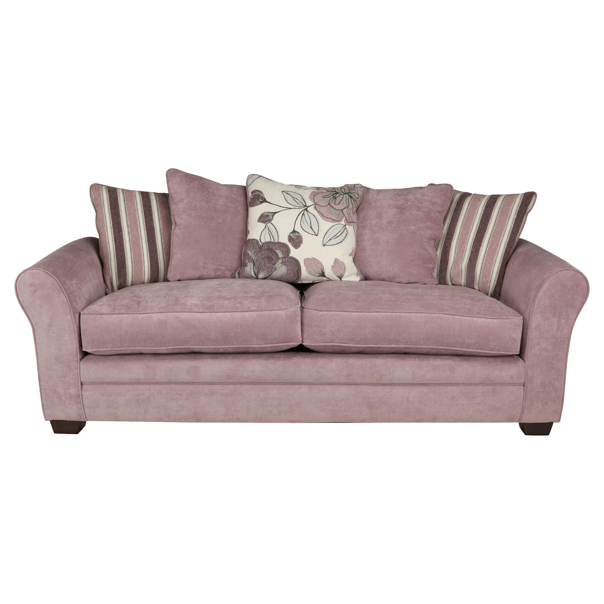 Amelie Large Fabric Sofa, Lilac at Tesco Direct