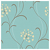 Arthouse Mia motif blue wallpaper