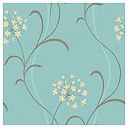 Arthouse Blue Mia Motif  Wallpaper