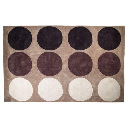 Tesco Rugs Circles Rug 150X240Cm Mocha