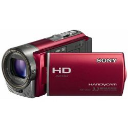 Sony HDR-CX130 Handycam Camcorder - Red (30x Optical Zoom, 3.3 MP, 3 inch Touch LCD)