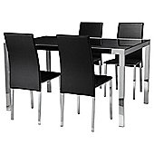 Noko 4 Seat Set, Black & Chrome