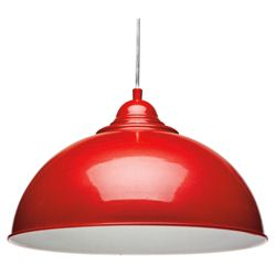 Tesco Lighting Milford Ceiling Fitting, Red