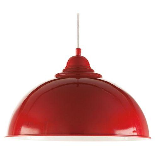Tesco Lighting Milford Ceiling Fitting, Red