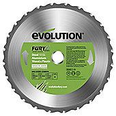 Evolution FURY 255mm Multipurpose TCT Blade (Green)