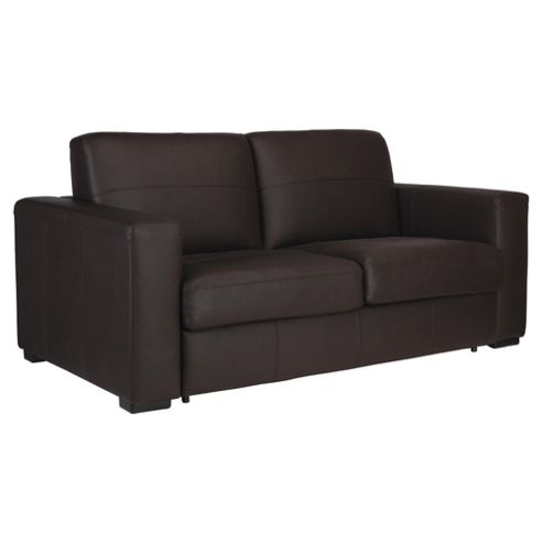 Venice Leather Sofa Bed Brown