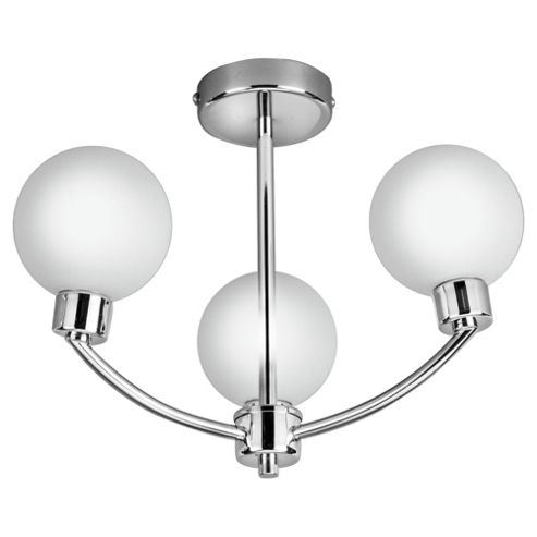 Tesco Lighting Global Bathroom 3 Light Semi Flush