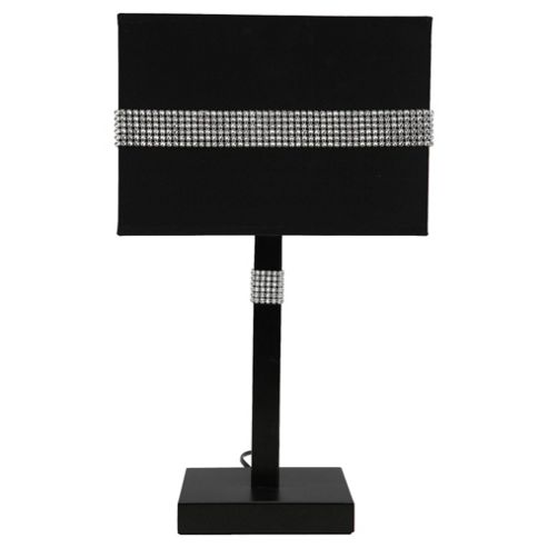 Tesco Lighting Audrey Black and bling table lamp