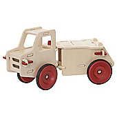 Moover Wooden Dump Truck Ride-On, Natural