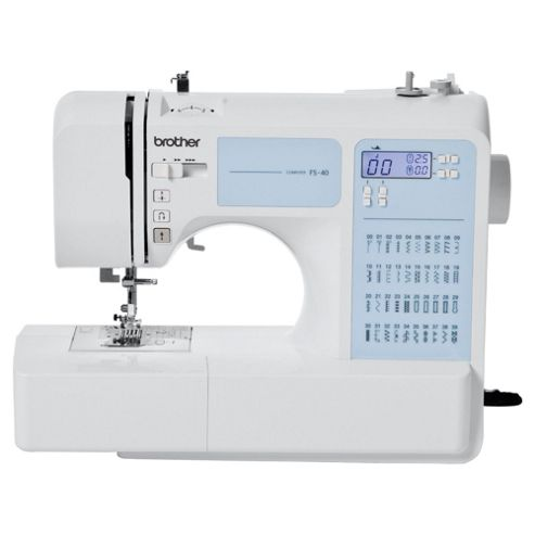 buy brother fs40 computerised sewing machine white from our sewing machines range tesco. Black Bedroom Furniture Sets. Home Design Ideas