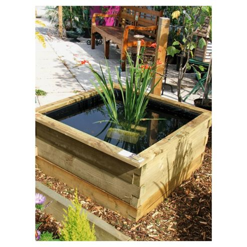 Aquatic Planter with liner 180 x 90 x 30cm - Natural