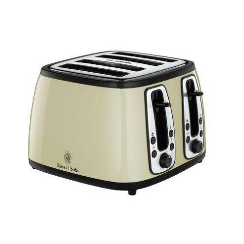Russell Hobbs Heritage 4 Slice Toaster - Cream