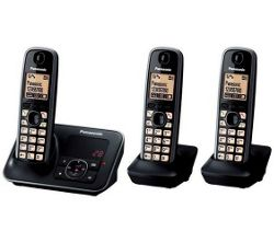 Panasonic KX-TG6623EB Triple Digital Cordless Phone Set with Answer Machine