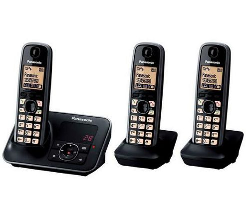 Panasonic KX-TG6623EB Triple Digital Cordless Phone Set with Answer Machine