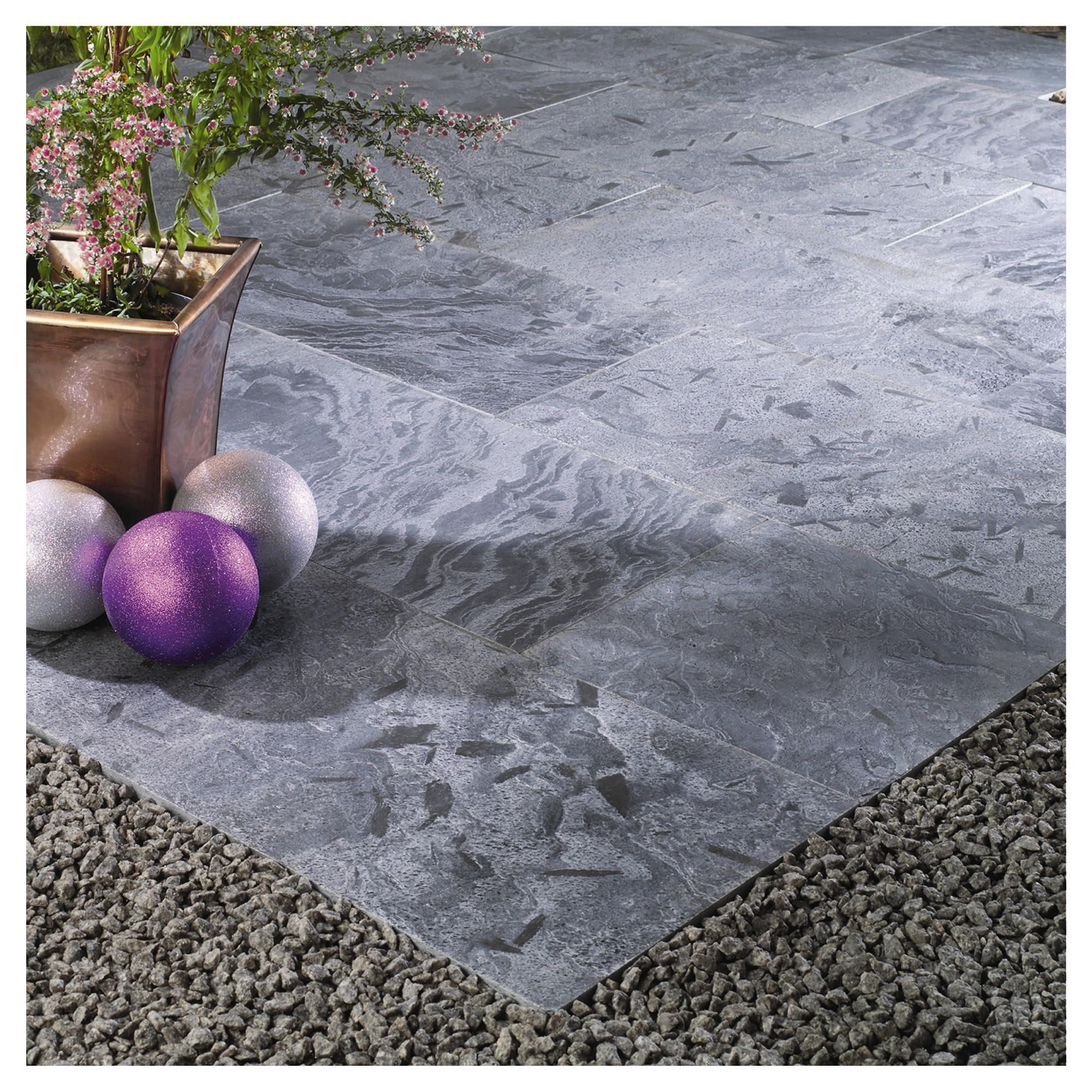 Natural Stone Moonlight Patio Kit 2.4x2.4m at Tesco Direct