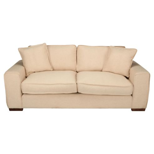 Omega Large Fabric Sofa, Natural