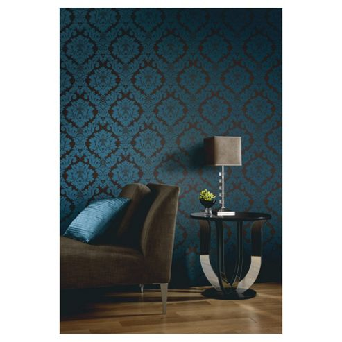 Arthouse Da Vinci damask aqua wallpaper