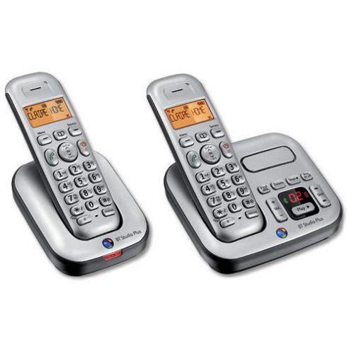 BT Studio Plus 4500 Twin Telephone with Answer Machine