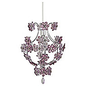 Tesco Lighting Edina satin nickel pendant shade- Lilac flowers