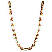Gold Plated Silver Double Curb Necklace, 46cm