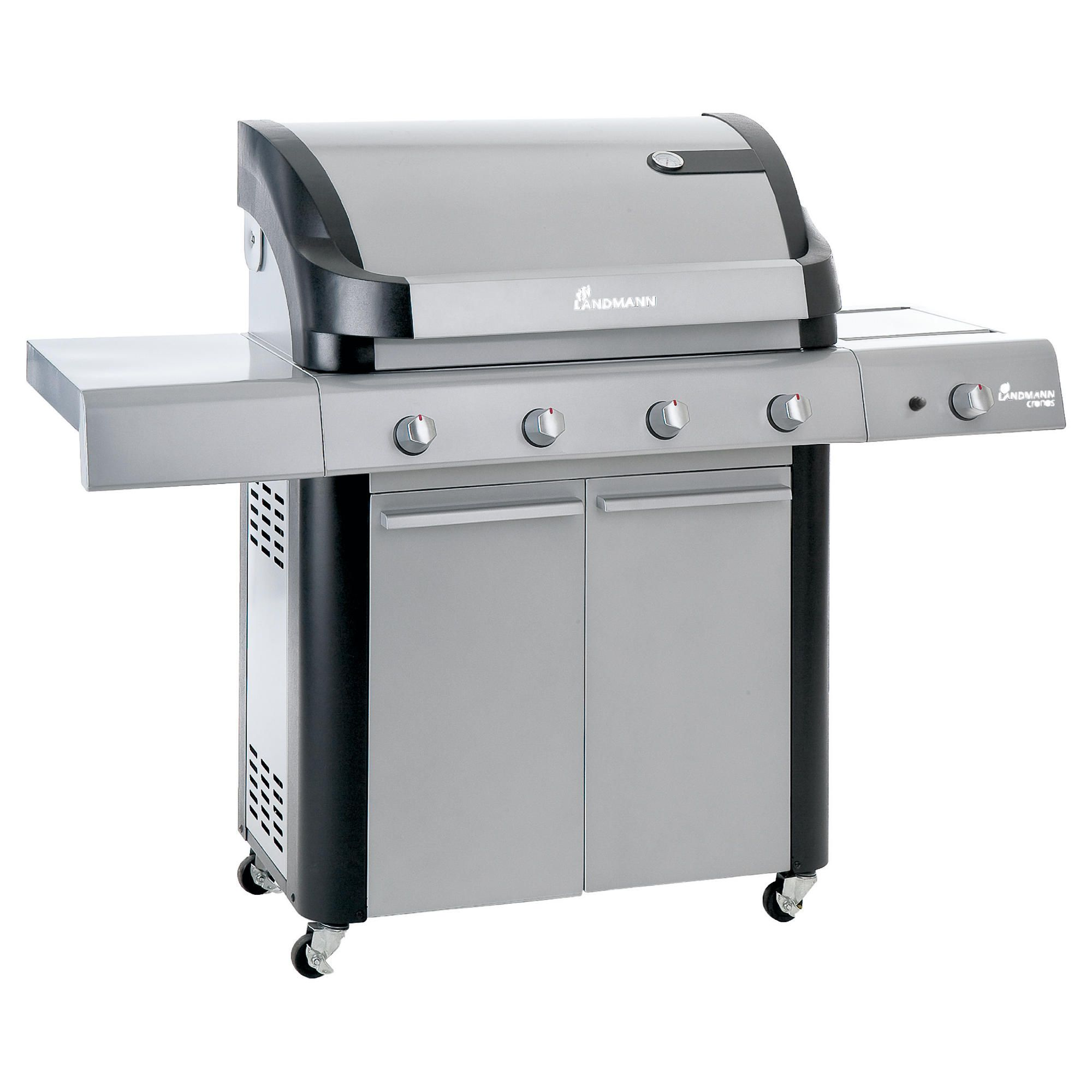 Cronos 4 Burner Gas BBQ with Side Burner & Cabinet at Tesco Direct