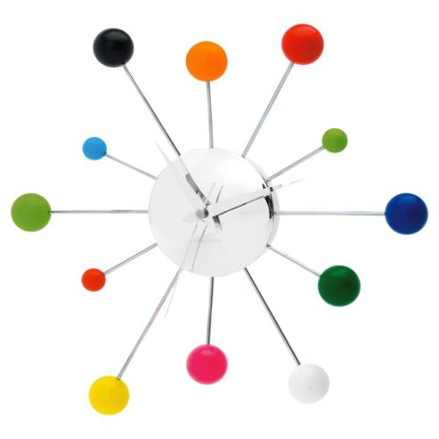 Karlsson Mixed Spider Wall Clock in Chrome