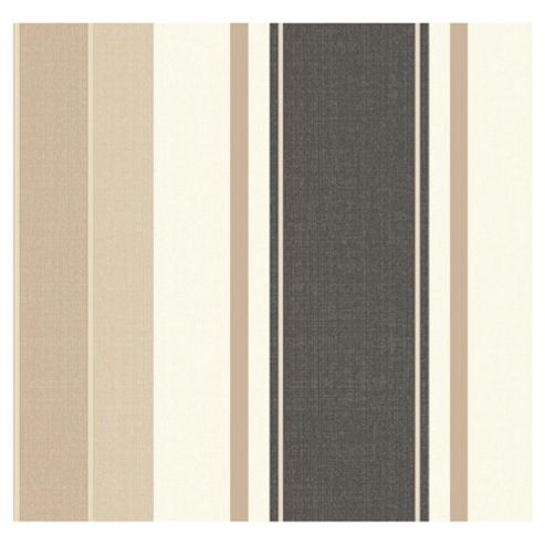 Arthouse Adelphi stripe chocolate wallpaper