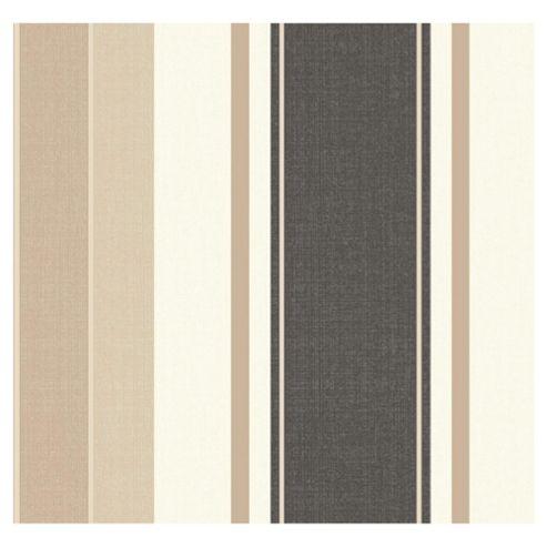 Arthouse Adelphi stripe chocolate wallpaper