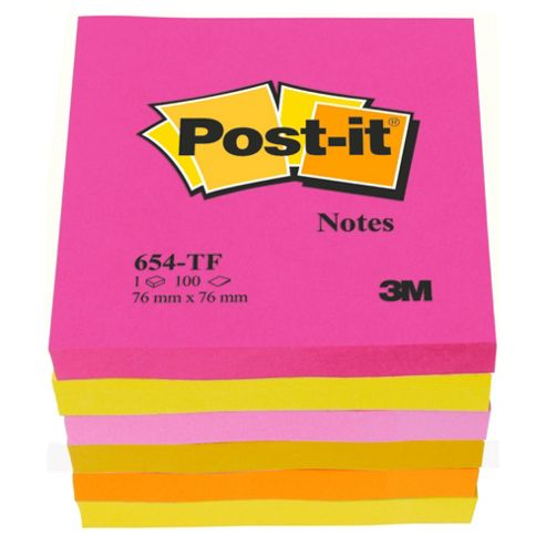 Post-It Neon Note 6 Pack