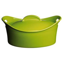 Prestige This Morning 34.5cm Oval Covered Casserole in Lime Green