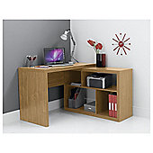 Seattle Corner Desk, Oak Effect.