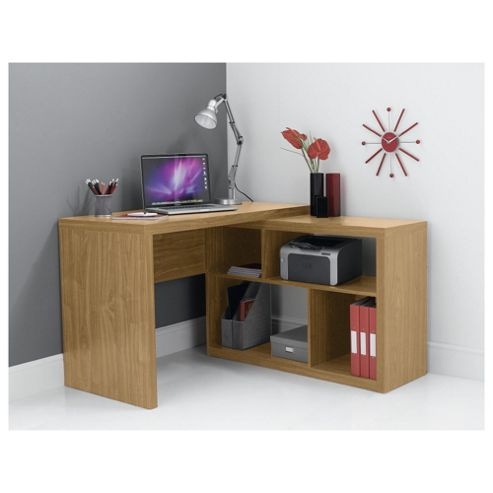 Seattle Corner Desk, Oak Effect