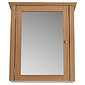 Portico Light Wood Wall Cabinet with Mirrored single door