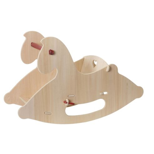 Moover Wooden Rocking Horse Natural