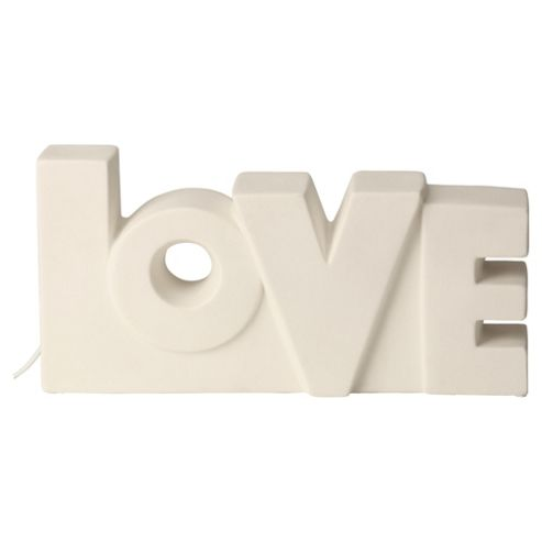 Tesco Lighting Love Words Ceramic Lamp