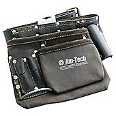 Am-tech 6 Pocket Heavy Duty Leather Tool Belt Oil Tanned Leather N0855