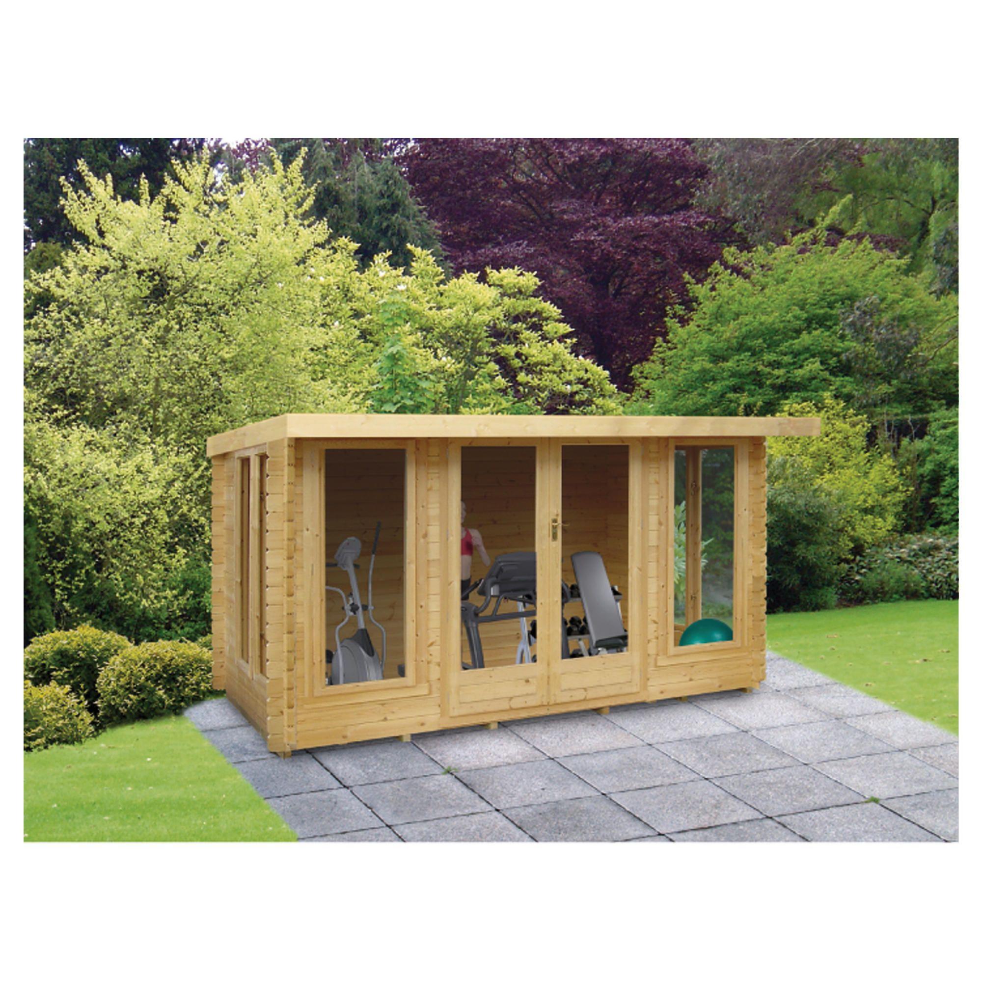 Finewood 14x14 Log Cabin at Tesco Direct