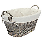 Tesco Wicker Wash Basket, Grey