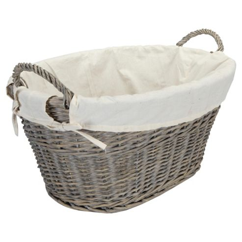 Wicker Wash Basket Grey Wash