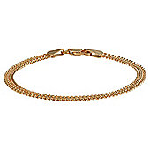 Gold Plated Silver Double Curb Bracelet, 20cm