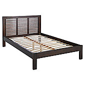 Boston Double Bed Frame, Acacia With Walnut Stain