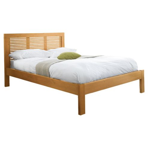 Boston Double Bed Frame, Pine With Natural Stain