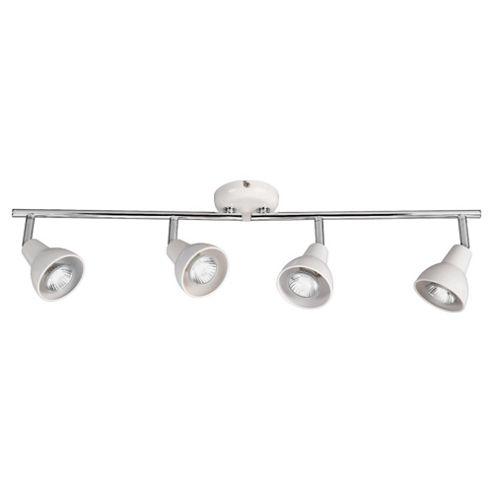 Tesco Lighting Eden Adjustable 4 spot Bar White