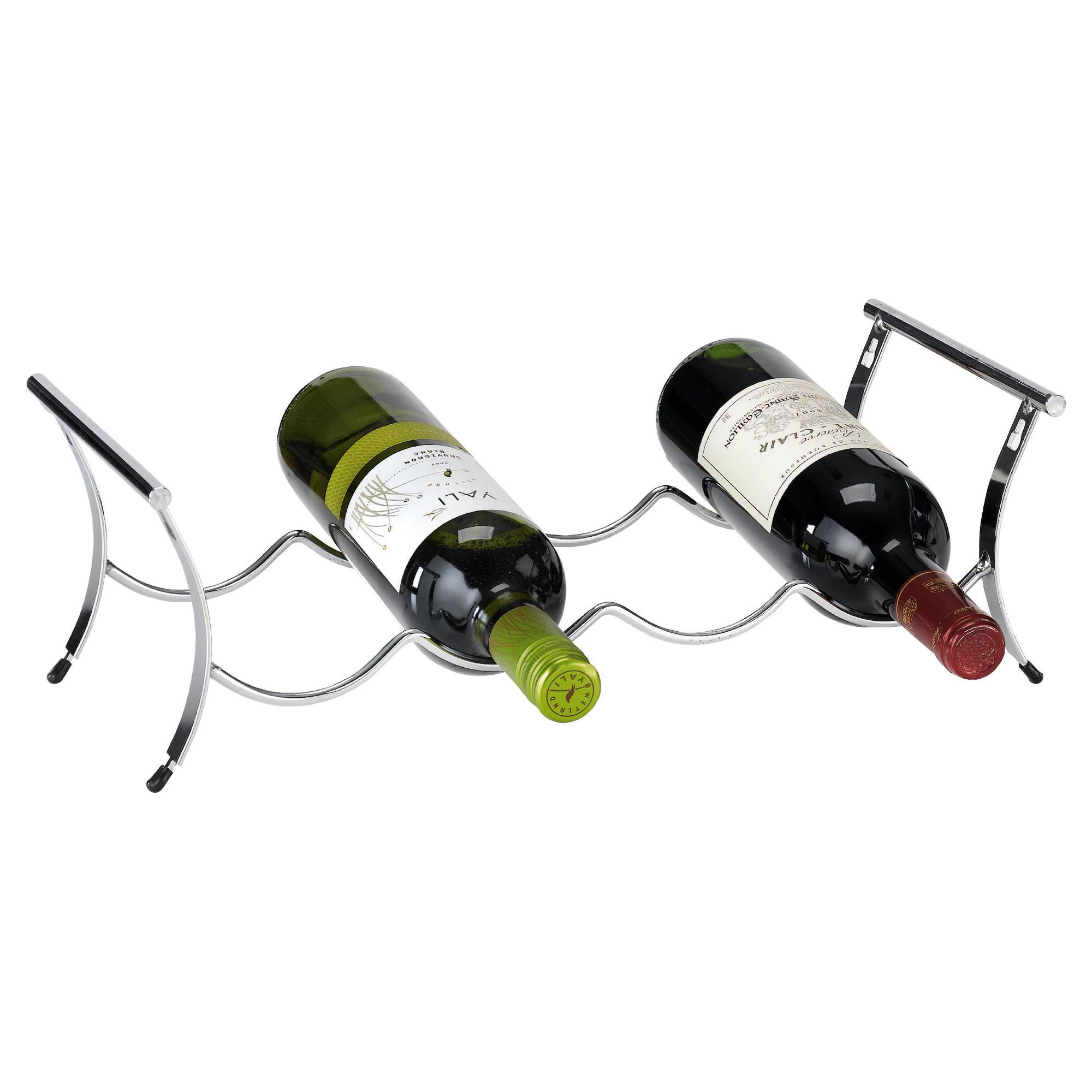 Ready To Assemble 4 Bottle Winestak, Chrome