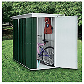 Yardmaster 6'x3'5 metal pent lean-to with floor support frame