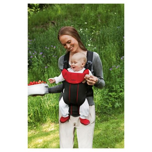 BABYBJORN Baby Carrier Active, Black/Red, Cotton Mix