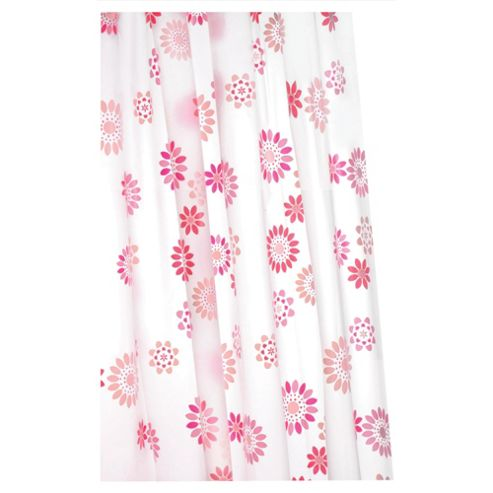 Croydex Anti-Bac Vinyl Shower Curtain Pop Flowers